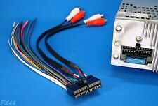 NAKAMICHI STEREO WIRE HARNESS CAR AUDIO RADIO POWER PLUG RCA CD TAPE CD300 20PIN