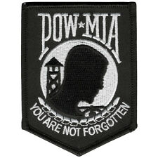 POW MIA  EMROIDERED MILITARY UNIFORM HOOK PATCH