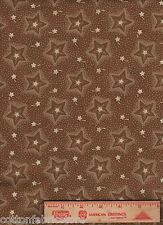 American Independence Brown Stars Polka Dot Blue Hill 7295 cotton Fabric BTY