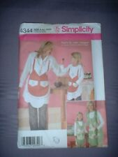 SIMPLICITY PATTERN 4344 ~ LADIES & CHILD MATCHING APRONS ~ NEW