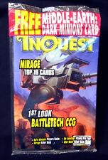 InQuest Magazine Issue #20 FS New 1996 nm/m D&D Battletech LOTR Wizard Amricons