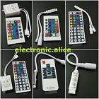 For 3528 5050 RGB LED Strip Light Mini 3/24/44 Key IR Remote Wireless Controller