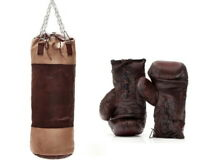 RETRO LEGACY LEATHER BOXING PACKAGE PUNCHING BAG BOXING GLOVES