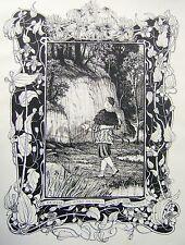 Las ilustraciones Art Deco un niño pintor Walter Crane RWS (atribuido) Tinta C1900