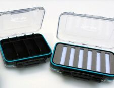 2 Sided Clear Ice/Trout Fishing Jig Box Waterproof Compartments Organizer-Large