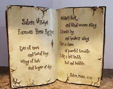 Raz Imports Halloween Prop Spell Book Salem Witches Brew Recipe Resin