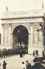 Post WWI Original Army AZO RPPC- 1917-18 Victory Arch- Memorial- Newport News VA