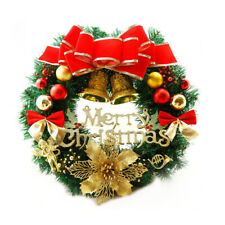 Rattan Wreath 12 Inch Christmas Large Wreath Door Wall Ornament Garland Decor