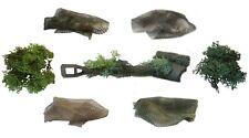 1:16 Panzer Zubehör Set zum Tarnen mit 2 Modellbau Tarnnetzen und Moos Büschen