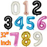 "632"" Number Ballons Giant Foil  Birthday Party 1st/16/18/21/30/40/50/60/70/80th"