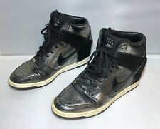 Nike Dunk Sky Hi New York City NYC Black Metallic Silver 598216-002 Women US 10