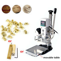 Hot Foil Stamping Machine For Leather Shoes Insole Embossing / Uppercase Letters