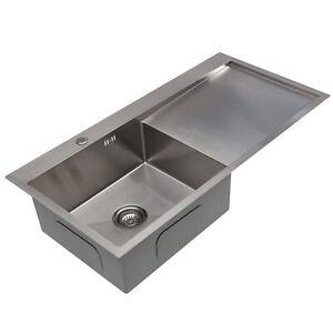 Square Large Bowl Kitchen Sink Stainless steel LH / RH Drainer Handmade Sink
