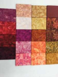 Color Reference (19) Fat Quarters 100% Cotton quilting Fabric Benartex (browns)