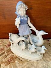 Vintage Gerold Porzellan Figurine Porcelain Girl With Ducks West Germany Antique