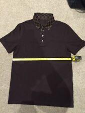 Mens Louis Vuitton Damier Ebene Short Sleeve Polo Shirt Size Medium Rare 9.9/10