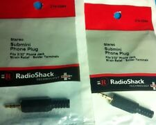 2 Packs RadioShack Stereo Submini Phone Plug #274-0244