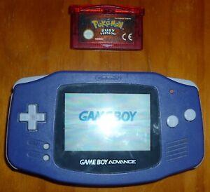 Nintendo Gameboy Advance purple console + game.