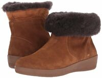 FitFlop Womens J73 Closed Toe Ankle Cold Weather Boots, Chestnut, Size 6.0 bC2I