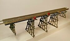 """HO Scale Salvaged Campbell 18"""" Wood Trestle with Nickel Silver Rails"""