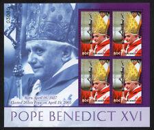 MICRONESIA, SCOTT #667, MINI SHEET OF POPE BENEDICT XVI, 265th POPE OF ROME 2005