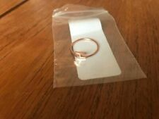 """Sideway Initial """"H"""" Ring Rose Gold Size 7 NEW"""