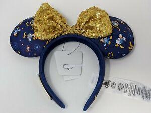 WDW 50th Anniversary Loungefly Minnie Mouse Bow Ears Headband Walt Disney World
