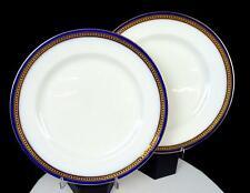 "ROYAL DOULTON #325655 GILMAN COLLAMORE COBALT GILT 2 PIECE 10 1/2"" DINNER PLATES"