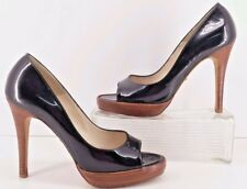 Alexandra Neel Patent Leather Peep Toe Black Platform Heels.  Approx. 7   (38)