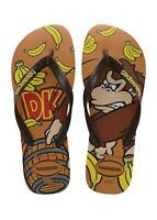 Havaianas Men's Donkey Kong Flip Flop Sandals - Brown/Yellow NWT
