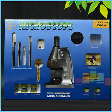 Kids Xmas Gift 1200X Plastic Children Toy Biological Microscope with Lamp Mirror