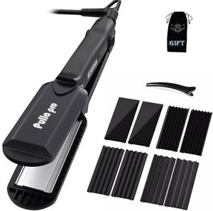 Pulla Hair Straightener and Crimper - 4 in 1 Tourmaline Ceramic Flat and Curling