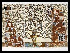 Gustav Klimt Lebensbaum Poster Kunstdruck Bild im Alu Rahmen schwarz 60x80cm