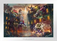 Thomas Kinkade Studios Spider-Man vs. the Sinister Six S/N 12 x 18 LE Paper