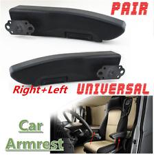 2Pcs Right Left Car Truck Black Adjustable Armrests Arm Rest PU Foam Chairs Pad