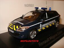 NEW NOREV RENAULT MEGANE ESTATE GENDARMERIE YELLOW STRIPPING 2012 au 1/43°