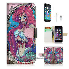 ( For iPhone 6 / 6S ) Wallet Case Cover! Cursed Mermaid Zombie P0404