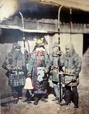Samurai Warriors Wearing Chain Armour Japan 1870 Photo Reprint 7x5 Inch
