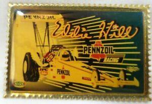 Eddie Hill Top Fuel Pennzoil Vintage Racing Funny Car Hat Enamel Gold Color Pin