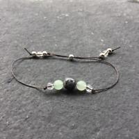 Crystal Healing Bracelet Labradorite Green Aventurine Sterling Silver - Anxiety