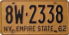 Incorniciato stampa-NEW YORK USA Numero License Plate 1962 (foto poster arte auto)