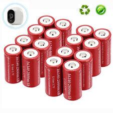 4-20pcs CR123A 16340 Battery 3.7v 2800mAh Rechargeable for Netgear Arlo Camera