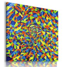 ABSTRACT MOSAIC CANVAS WALL ART PICTURE LARGE SIZES AB655 UNFRAMED-ROLLED