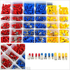 480 Pcs Red&Blue&Yellow Car Autos Electrical Wire Spade Terminals Connectors Kit