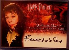 Harry Potter-Frances De La Tour-Madam Maxime-GOF-Signature-Autograph Card
