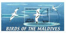 MODERN GEMS - Maldives - Birds of the Maldives CANCELLED STAMP - S/S - CTO