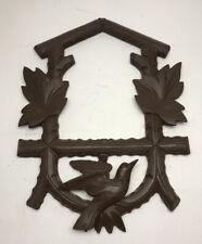 Vintage Cuckoo Clock Wood Face