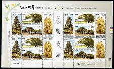 KOREA STAMP 2009 OLD HISTORIC TREE OF KOREA SERIES 1st M/S SHEET