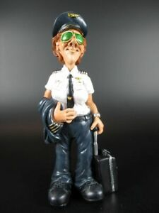 Pilot Funny Job Occupation Figurine Profession, 17 CM, New