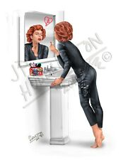 BLACK WIDOW Bathroom Make-up Lipstick Print Picture Poster Picture DC Marvel